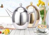 cafetière olive de théière de l'acier inoxydable 1500ml (CS-025)