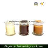 Envase de cristal claro Shaped del tarro con la tapa de madera para el surtidor casero de la decoración
