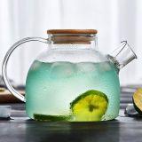 1Lヨーロッパのガラス茶鍋の冷たい飲むガラスの水差しの水まき缶