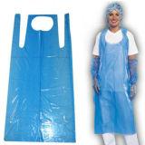 Impresión de plástico desechable delantal Poli Delantal precio barato PE delantal