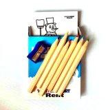 Деревянный карандаш цвета для промотирования с заточником