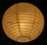 Partido Popular boda Ronda de cumpleaños Colgante de papel de arroz luz de la decoración del arte de la linterna para la boda