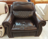 Sofà dell'America, sofà di cuoio, mobilia domestica, sofà di combinazione (A57)