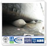 Uso de goma marina disponible del saco hinchable de diversos tamaños para el lanzamiento de la nave