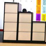 白くおよび黒いカラー金属4の引出しの縦のファイルストレージのキャビネット