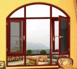 Kundenspezifisches Aluminiumflügelfenster-Fenster mit Moskito-Netz