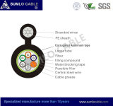 Messenger 의 각자 Supporting, 숫자 8, Aluminum Tape Armoured를 가진 Gytc8a Optical Fiber Cable
