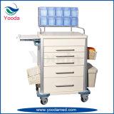 Carretilla médica Emergency de la anestesia del oficio de enfermera de los muebles del uso del hospital