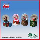 Base unica del sacco del ricordo del regalo della calza di natale del globo della neve dell'acqua della resina del Babbo Natale di natale