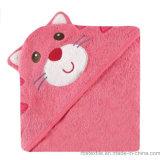 Toalla de baño 100% encapuchada del bebé del algodón del diseño de los animales con alta calidad