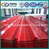 Tôle d'acier ondulée colorée utilisée sur la construction