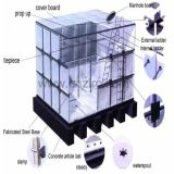 Filtro de água modular do tanque de água de SMC 1-15000 litros