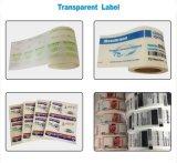 OEM 디자인 투명한 PVC 레이블