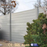 Einfach zum Aluminium-WPC Garten-Zaun der Installations-für Landhaus
