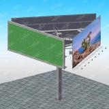 Panneau de tension de drapeau de câble de Trivision annonçant le matériel de panneau-réclame