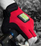 Bicicleta impermeável dos esportes ao ar livre que dá um ciclo luvas do sinal do diodo emissor de luz