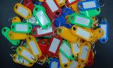 Бирка Keychain дешевого багажа пряжки карточки ярлыка классифицирования цены ключевая