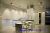 Projeto simples de 2017 armários acrílicos de madeira novos da cozinha da madeira compensada do MDF de Foshan Zhihua MFC