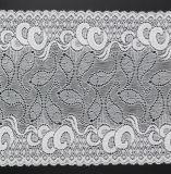 Tessuto di nylon del merletto del reticolo bianco della luna buon per la tessile dei sari