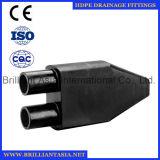 Typ HDPE Entwässerung der HDPE Druckdose-Entwässerung-Rohrfitting-F, die sieben Durchlauf-Methoden-Befestigung befestigt