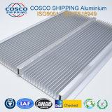 Radiateur en aluminium compétitif avec l'anodisation claire et l'usinage de commande numérique par ordinateur