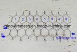 電流を通されたおよびPVC上塗を施してある六角形の金網