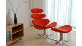 Cadeira de giro européia de Calona com couro do plutônio