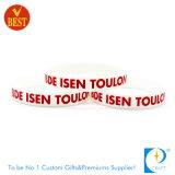 Wristband su ordinazione della gomma di silicone di Debossed di prezzi di fabbrica