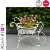 Metallblumen-Potenziometer-Pflanzenstandplatz-Garten-Dekoration