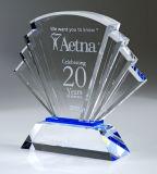 Trofeo cristalino de la pirámide de la alta calidad directa de la fábrica para el regalo