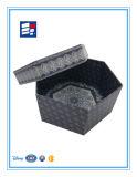 Горячая штемпелюя шестиугольная бумажная складывая коробка подарка для косметик