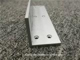 a areia 6061t6 soprou o alumínio anodizado expulsou perfil com fazer à máquina para portas
