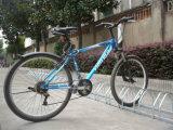 2016熱い販売亜鉛は床に-取付けられた自転車の駐車ラック塗った