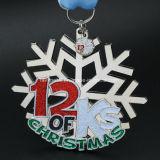 Medaglia su ordinazione di sport del hokey di ghiaccio del fiocco di neve del metallo