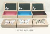 Деревянная коробка ювелирных изделий бабочки MDF сбор винограда с ящиками
