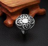 Staal van het Titanium van de Ring van de Staart van de Bloem van Vintager het Unisex-
