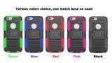 3 em 1 caixa dura protetora cheia do telefone móvel do robô do anel do caso 360 para Samsung J1 2016