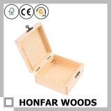 Rectángulo de regalo de madera sin procesar inacabado del rectángulo de madera del rectángulo de joyería de DIY