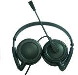 Fácil llevar el auricular plegable con el micrófono para en la línea charla