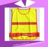 Het Vest van het verkeer met Weerspiegelende Band met Embleem die Ksv017-002 brandmerken
