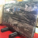 2017 China Most Popular Century Glacier Black Marble Slab Dining Table