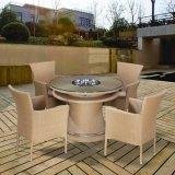 Drehbarer Garten-Kaffeestube-Partei-Rattan-Stuhl und Tisch für Glasim freienmöbel