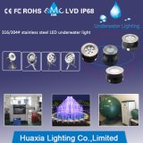 Lumière sous-marine d'endroit de fontaine d'IP68 316ss DEL