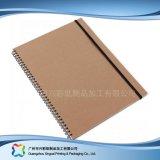 Planificador modificado para requisitos particulares del cuaderno del diario de la cubierta del papel de la insignia A5 Kraft (xc-stn-002)