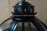 Lâmpadas do pendente do ferro do preto do vintage de Hotsell (KM0115P-3S)