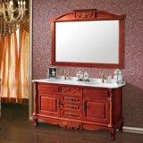De antieke Stevige Houten Ijdelheid van de Badkamers met Spiegel