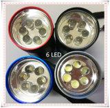 6 LED-Minitaschenlampe mit Aluminium