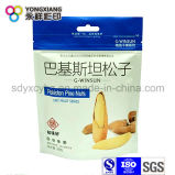 Snack Nuts Alimentación Paquete de plástico Bolsa de compras con agujero