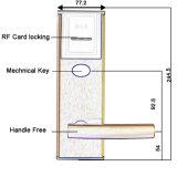 Blocage sûr électronique de blocage intelligent de carte d'IDENTIFICATION RF d'hôtel d'acier inoxydable