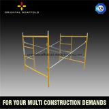 Andamio usado construcción del marco de acero